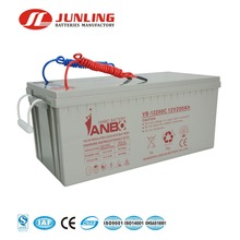 Rechargeable maintenance free 12v 200ah lead acid battery