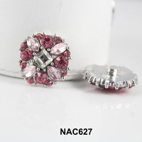 China alibaba Snaps Snap Snap Charm Silver rhinestone Chunks Button Jewelry Accessories NAC627