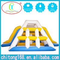 Inflatable Climbing Tower Giant Floating Water Slides For Sale
