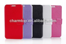 Silk Leather Wallet Case For Samsung Galaxy S5 i9600