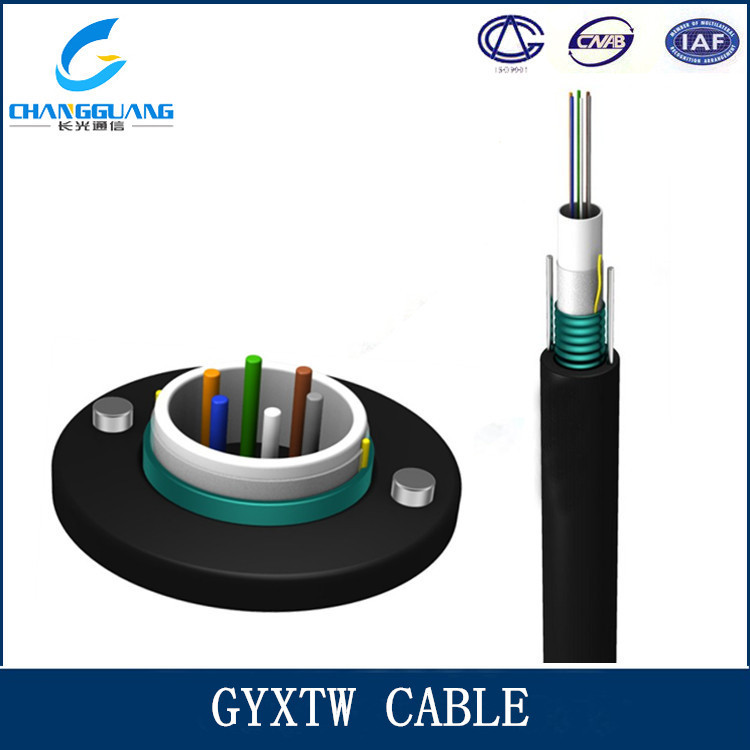GYXTW 8 core Two Parallel Steel Wires Strength OM3 ethernet fiber optic cable