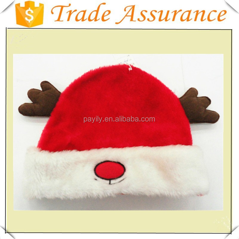 hot wholeseal Christmas decorations popular reindeer animals santa's hat