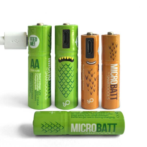 Cheap Cost Rechargeable Micro USB AA Batteries 1.2V 450MAH 1000mah Ni-MH Repeatedly USE AA aaa Recharge High Quality Battery