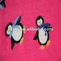 100% Polyester Penguin Print Brush Fleece Fabric