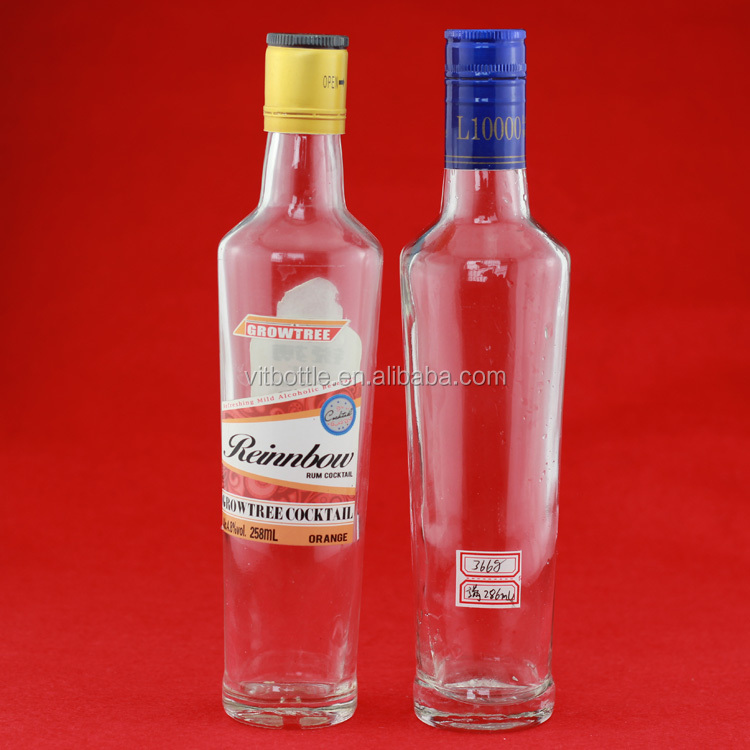 Wholesale beverage glass bottles gun shape bottles 500ml transparent 250ml oil bottles