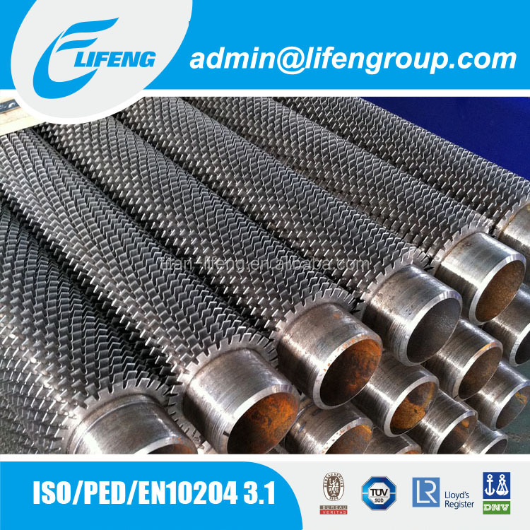 ISO PED approved CS SS fin tube used on radiator for Industrial type washing machine spare parts