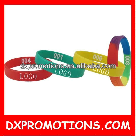 colorful cheap silicone bracelet/cheap engraved bracelets