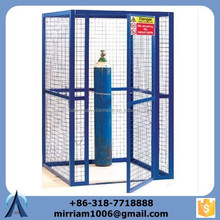 Made in China blue color propane storage cage, metal gas container, gas cages