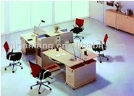 office furniture partition work station for 4 clerk