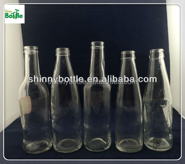 xuzhou glass factory glass drinking water bottle with crown cap