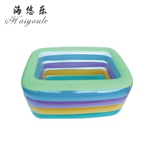 Super quality Inflatable baby swimming pool, inflatable adult square swimming pool