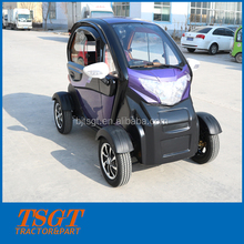 2000w motor battery power mini cabin electric car with fan/reverse camera/AC/heater handbar model and disc wheel model factory s