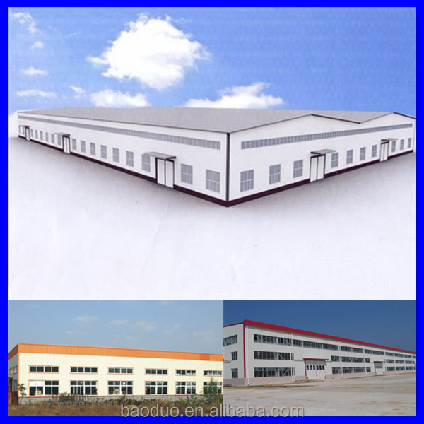 ISO & CE Certificated Wide Span Light Steel Structure Building