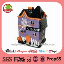 Halloween decorations with house design cookie jar