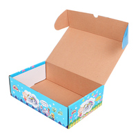 Custom foldable recycled paper box corrugated paper box brown kraft paper box with CMYK and Pantone print