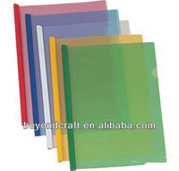 a4 clear PP plastic slide bar file folders customized design