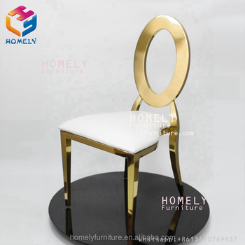 Modern leather hotel banquet party event dining room new design rose gold wedding stainless steel chair