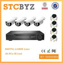 8ch 800TVL waterproof cctv kit