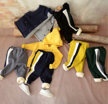 S33859W Autumn winter warm baby pants cotton cartoon loose cotton baby pants