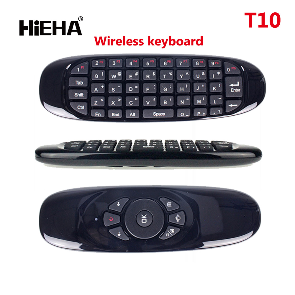 2.4GHz G Mouse T10 / C120 Air Mouse T10 Rechargeable Wireless Air Fly Mouse Keyboard for Android TV Box Computer