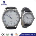 Classic design leather branded couple watches