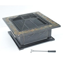 "36"" Square Outdoor Patio Grill Fire Pits"