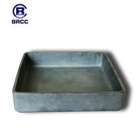 refractory SiC crucible, RBSIC saggars size: 350/350/70mm thickness 6mm