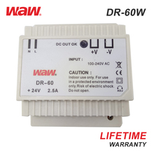 WODE 2018 Ultra Thin High Voltage 60W 5A 12V Din Rail Switching Mode Power Supply