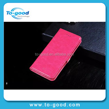 Alibaba Express Luxury Pink Soft Real Leather Mobile Phone Wallet Case For iPhone 6,Cover For Appler I phone 6