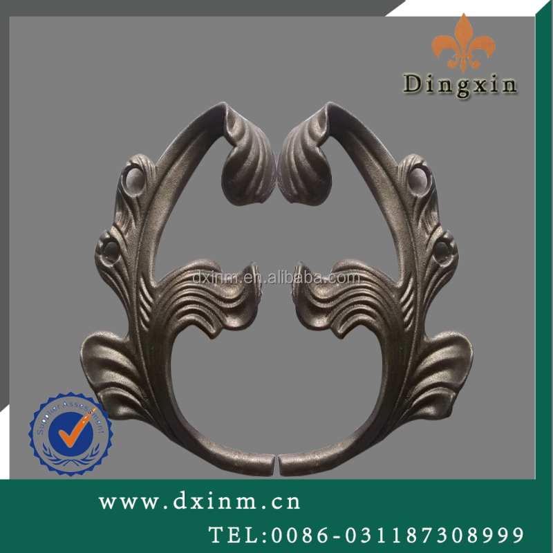 The main gate designs and wrought iron gate parts used cast steel for sale
