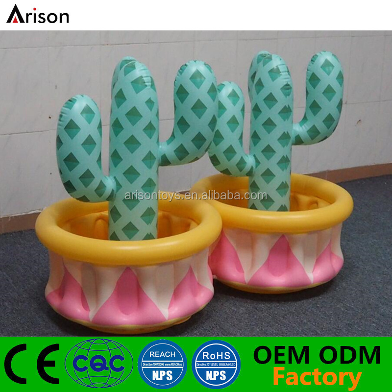 Beautiful PVC inflatable palm tree cooler inflatable coconut tree ice bucket