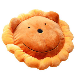 Wholesale Durable Dog Playing OEM Stuffed Soft Make Sound Lionhead Shaped Pet Plush Toy
