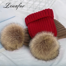 Superior Quality Women Faux Fox Fur Ball Winter Hat