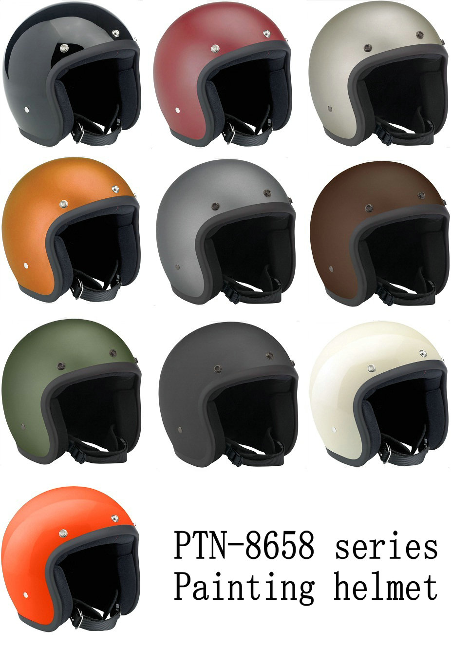 2016 high quality open face vintage motorcycle helmets