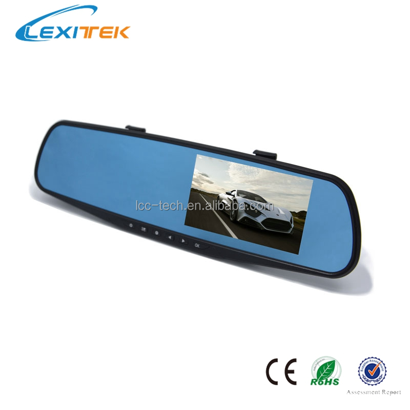 Dual Channel Car Dash Rearview Mirror 1080p Digital Video Driving Recorder Accident Recorder