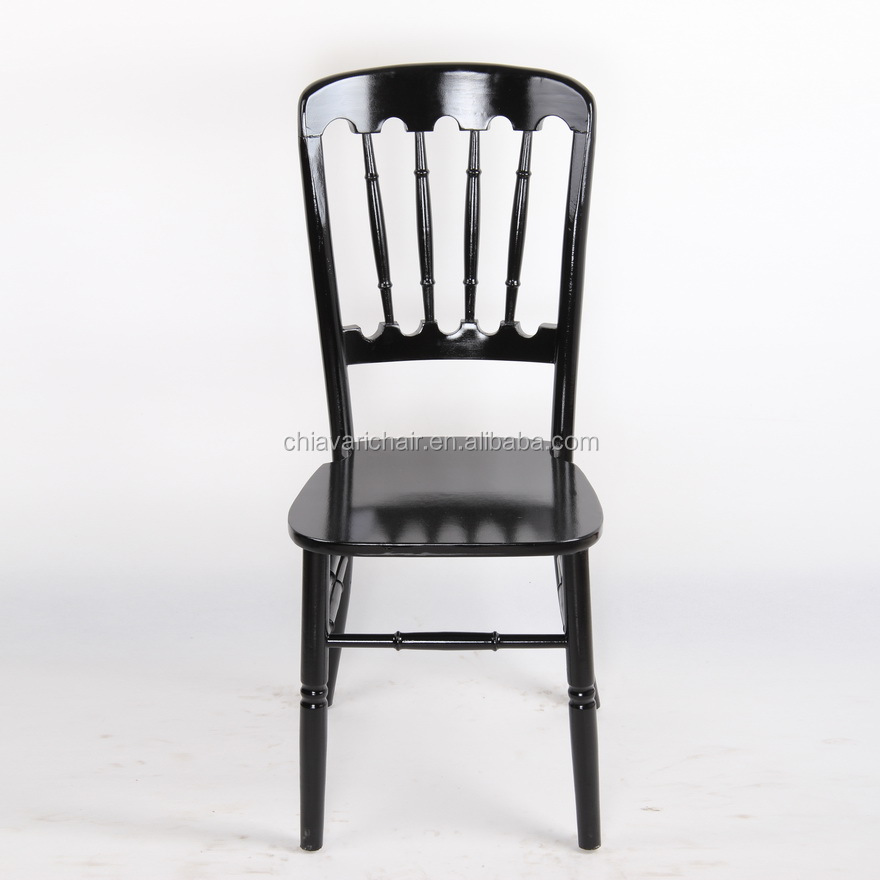 Commercial Black Color US Style Wood Chateau Restaurant Dining Castle Chairs