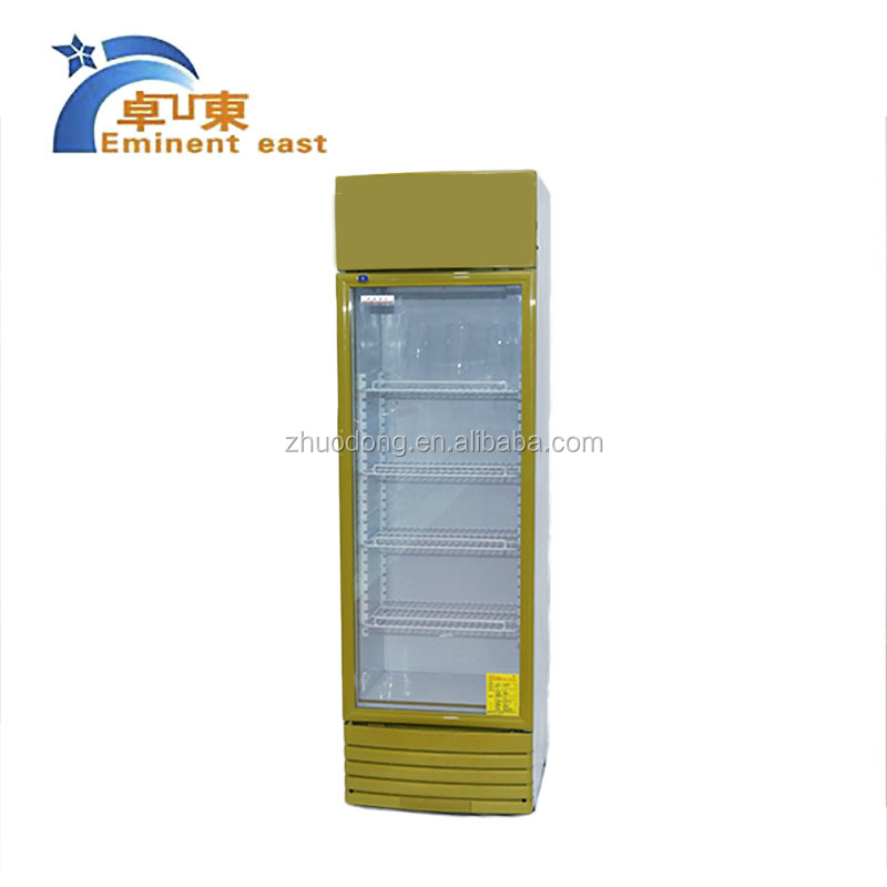 Commercial upright display showcase refrigerator for supermarket