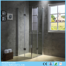 French Compact Folding Simple Shower Enclosure Shower Screen With Pivot Hinge