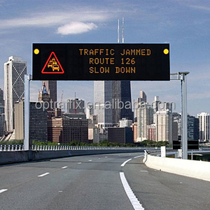 Outdoor Electronic Traffic Fixed Variable Message Signs Centers Full Color Destination Buy Bus Airport Train LED Display