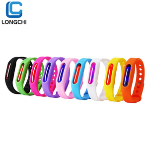 Amazon hot sale Protection 100% Natural oil Bug Waterproof Silicone anti Mosquito Repellent band Bracelet