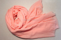 Fashionable polyester voile pure color long scarf shawl muslim hijab scarf women