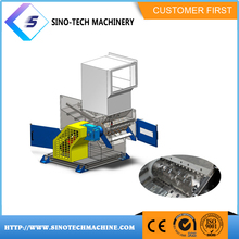 superior quality high-end single shaft tire rubber shredder used
