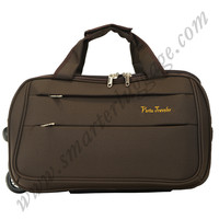 Laptop trolley hand bag with aluminum trolley,two big wheels