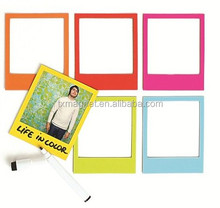 Custom Polaroid magnetic photo frame with writing