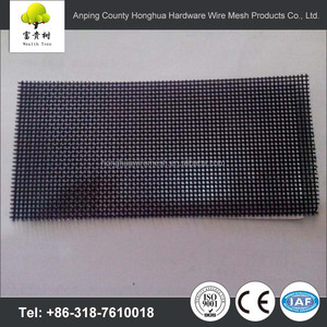Wholesale high quality anti mosquito pvc coated stainless steel security fiberglass hot sale one way vision window screen