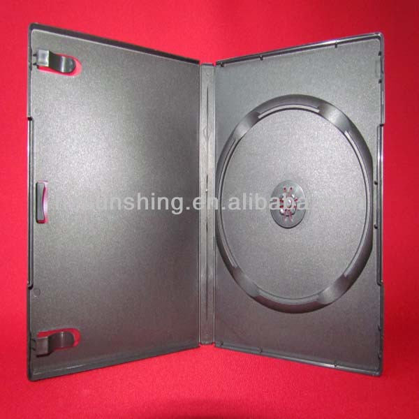 14mm black single/double/multi PP dvd/cd box/case
