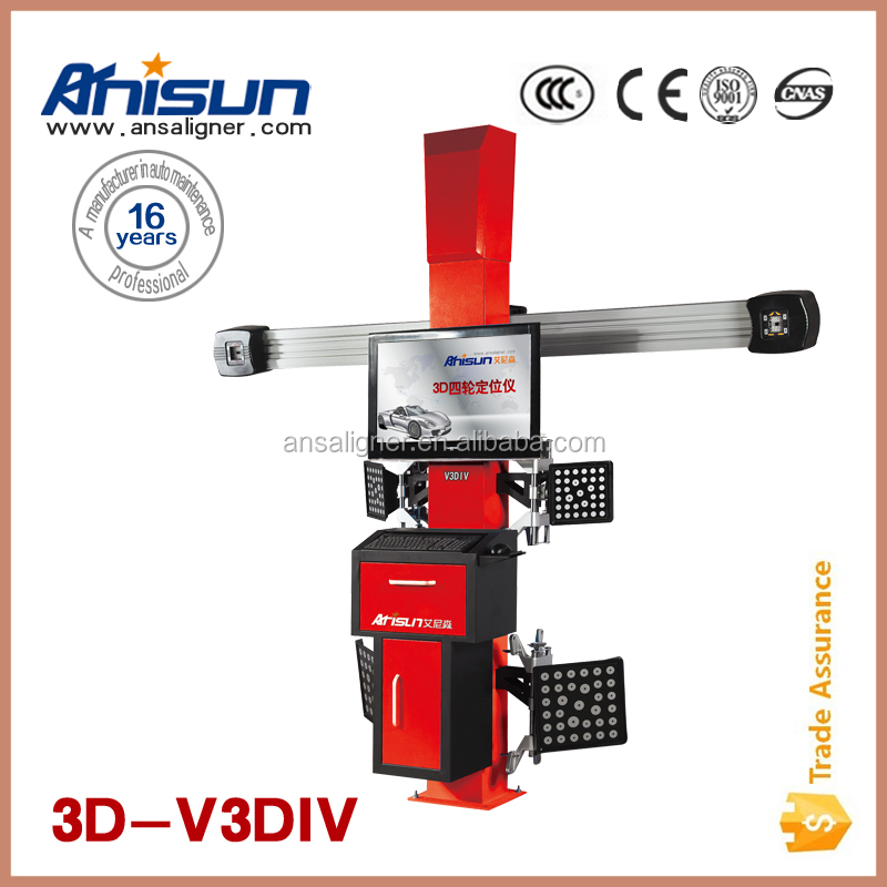 laser electronic wheel alignment for car service station