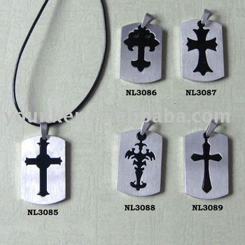 316L stainless steel cross pendant wholesale