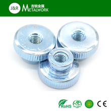 Galvanized Steel Knurled Nut With Collar DIN466