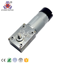Mini 12v 24v small gearbox micro DC worm gear motor with encoder angle right gearbox
